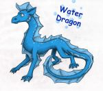 Water Dragon by AwesomeWaffle11