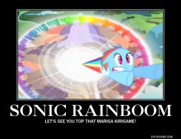 Sonic Rainboom OWNS Lover-Colored Master Spark! by BDOG375
