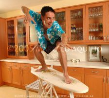 Surfing in the kitchen by atila