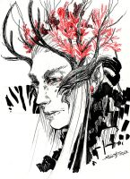 Thranduil sketch - kiriban by Kaos-Nest