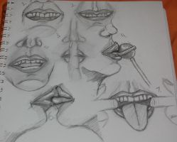 Mouth Sketch-dump by freehugsnow