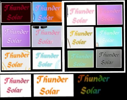 All logos color by ThunderSolar