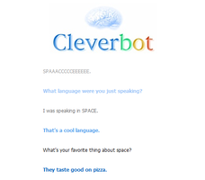 Cleverbot Does Not Speak Space by Courage09