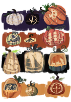 MAGE: halloween event - pumpkin carving by frappuu