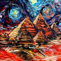 van Gogh Never Saw Giza by sagittariusgallery