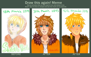 Draw this again: Kenny 2012 - 2014 (3 pics) by ManaLookie