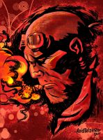 Hellboy in the Dark - Colored by axis000