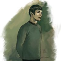speed drawing - Spock by Lenap