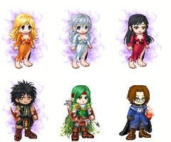 Chibis 6 personnages VP by Anarloth