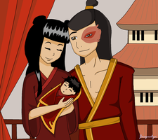 Mai and Zuko and Baby Maiko by Jackie-lyn
