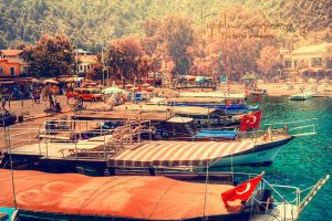 Turkish summer boats by Piroshki-Photography