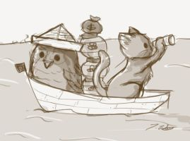 lunchdoodle - A Boat by chisa