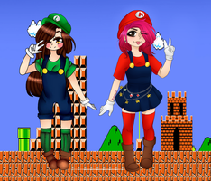 Mario and Luigi collab by Mikapower19