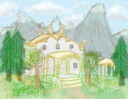 Frey's Alfheim Palace by ProfessorMythology