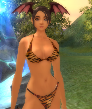 close up of veno in bikini by girlbot9