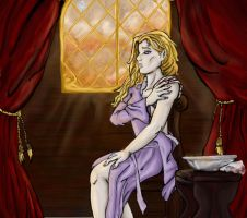 Dragonlance:Morning Reflection by Nalana