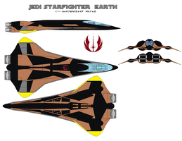JEDI starfighter  earth by bagera3005