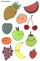 Fruits, Fruits, Fruits... by Lilicia-Onechan