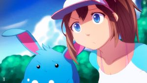 Pokemon Black 2 White 2 - Aryll and Azumarill by moxie2D