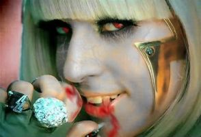 Lady Gaga Vampire by SmileWhenDead