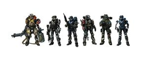Halo Reach Noble Team by ezra96