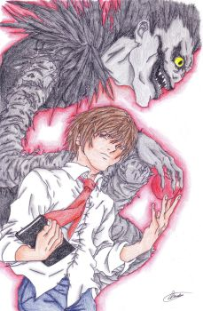 Light and Ryuk-colored by TheFrogger