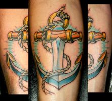 Josh's Anchor by Sirius-Tattoo