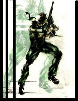Solid Snake by A-E-n-i-m-a