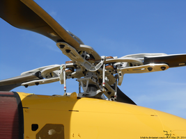 Bell 429 helicopter _ main rotor by K4nK4n