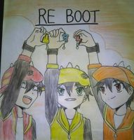 Reboot - Halilintar, Taufan, and Gempa version by LeilaZen