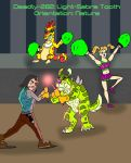 D-282: Light Sabre Tooth in Action by tombola1993