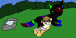 Nexon and Saz chillin' by biggywoot