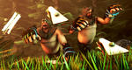 ~HeavyBears chasing wild sandwich~ by Commodor-Richter