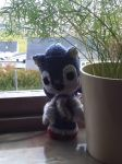 Crocheted Sonic plushie. by blackwolfofdeath