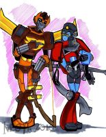 Rodimus and Perceptor by neoyi