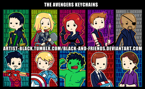 Avengers Keychain Designs v2 by artist-black