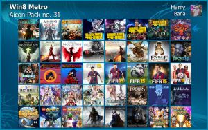 Windows 8 Metro Aicon Pack 31 by HarryBana