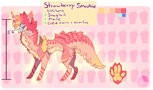 [DTA] CLOSED Strawberry Smoothie MantaMutt by Tevros