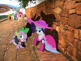 Rarity and Spike in real life by MaxnueL