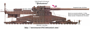 Pinkamena Canon Krupp K5 Super Duper Party Cannon by mercenario1945