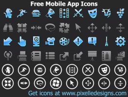 Free Mobile App Icons by shockvideo
