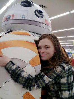a hug for BB-8 by Mickxbeth2012