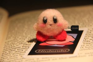 needle felt kirby by FluffyParcel