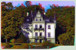 Villa above the river Elbe 3D ::: HDR Anaglyph by zour
