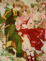 Sakura and syaoran on tree by JenovasReject88