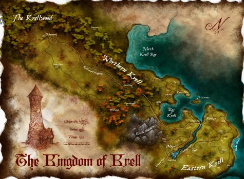 Map of Krell by Stormcrow135