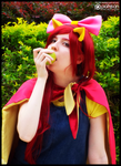 (MLP) Apple Bloom's Love for Apples (Cosplay) by KrazyKari