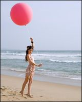 Christen with Pink Balloon 04 by JeremyHowitt