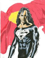 Nicholas Cage as Superman by LuisPuig
