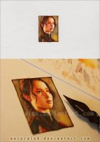 The Hunger Games - Miniature watercolor painting by AuroraWienhold